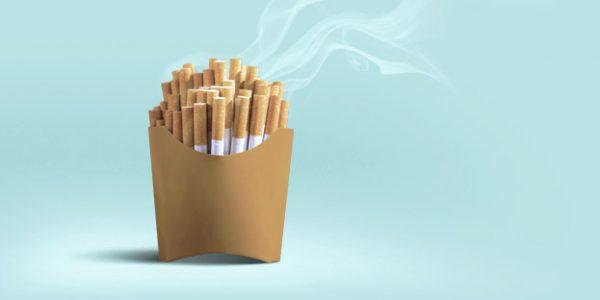 מה הקשר בין אכילת ג׳אנק פוד לעישון?