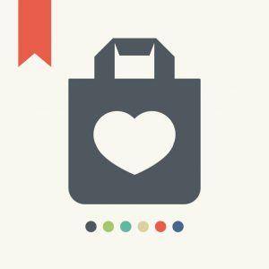 Shopping bag,vector illustration.