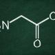 מבנה מולקולרי של חומצת האמינו גליצין